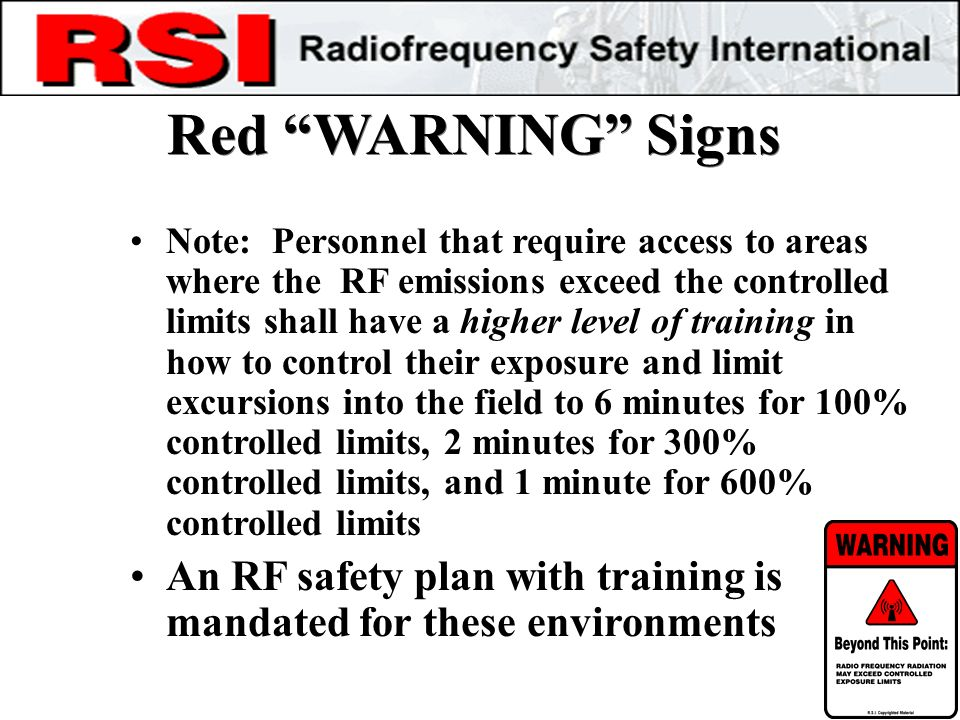 Red WARNING Signs