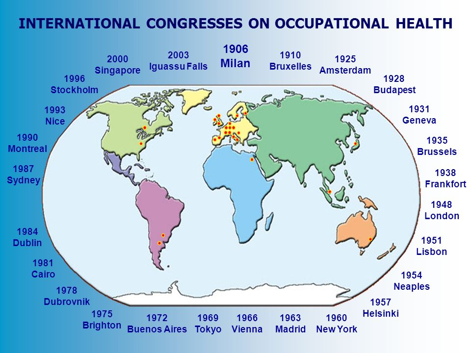 INTERNATIONAL CONGRESSES ON OCCUPATIONAL HEALTH