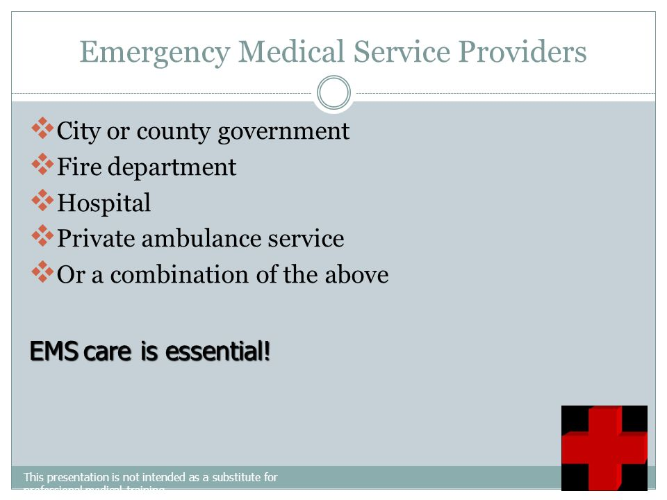 Emergency Medical Service Providers