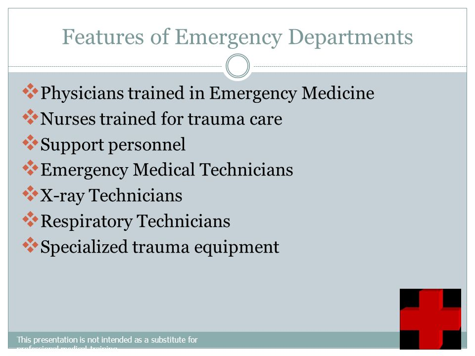 Features of Emergency Departments