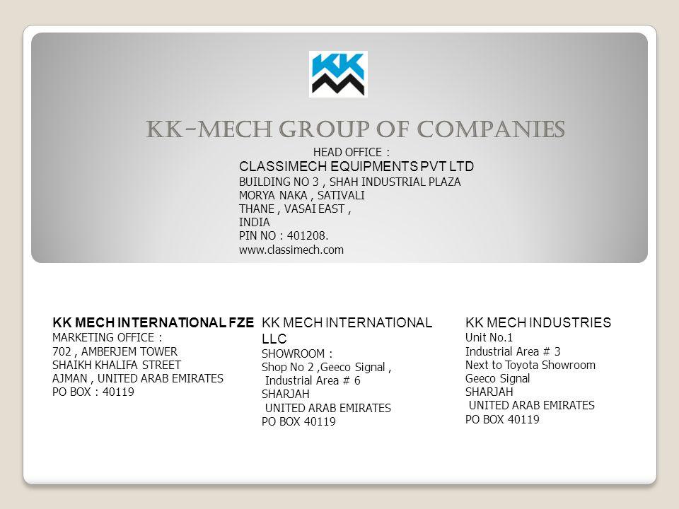 KK-MECH GROUP OF COMPANIES - ppt video online download