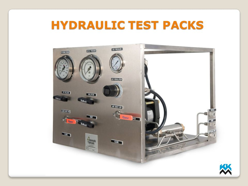HYDRAULIC TEST PACKS