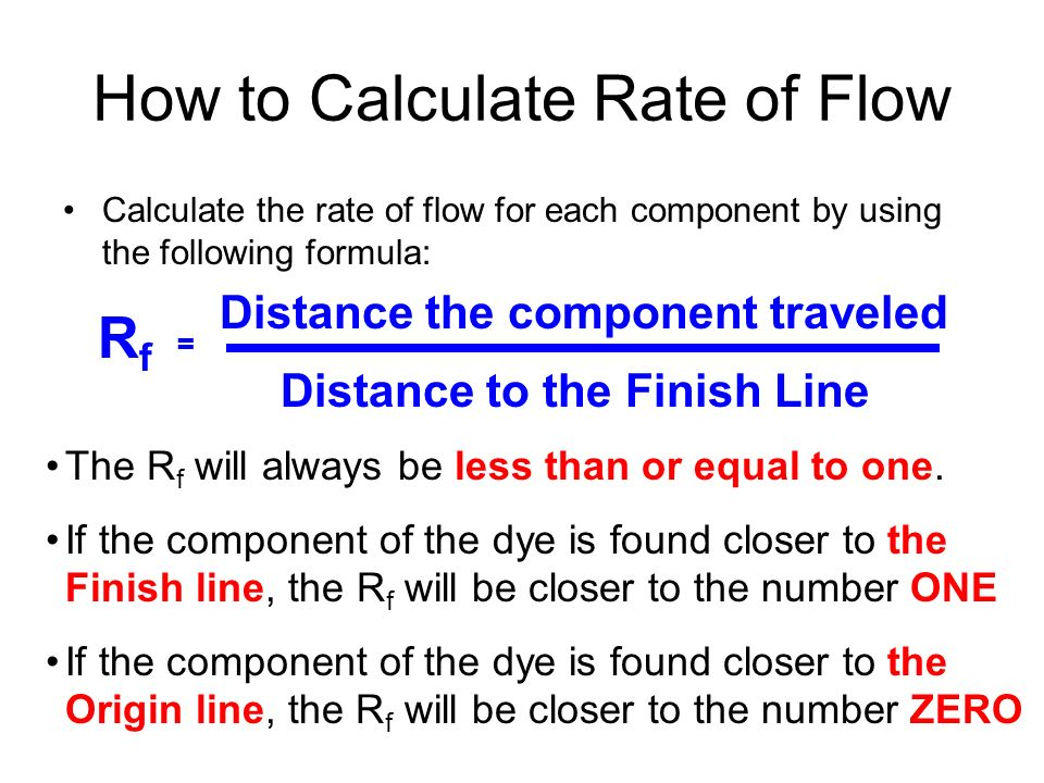 How to Calculate Rate of Flow