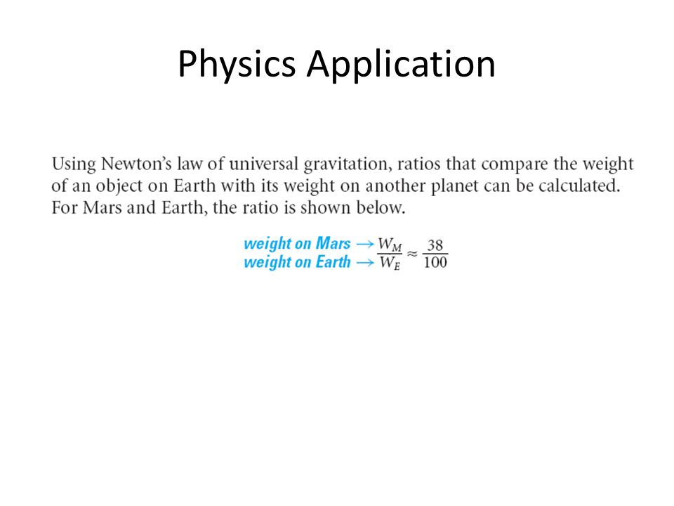 Physics Application