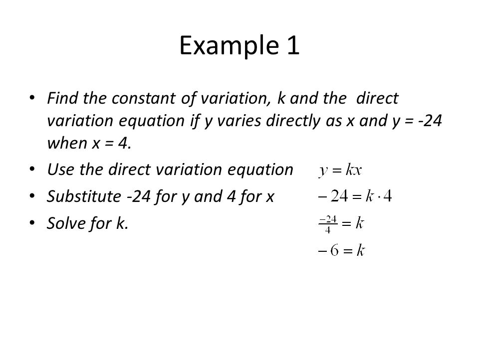 Direct Variation And Proportion Ppt Video Online Download