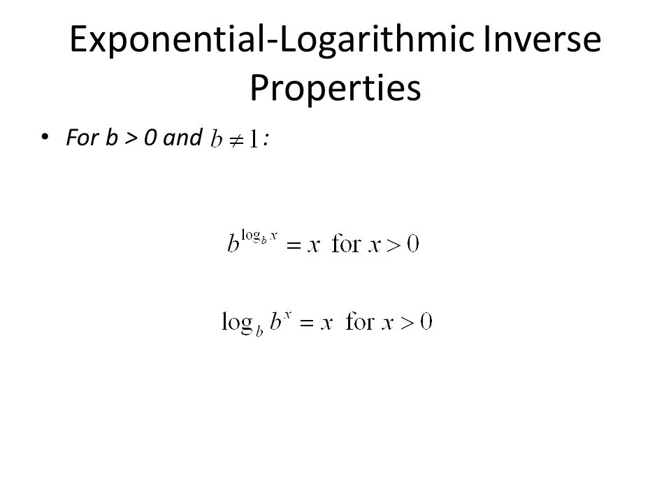 Exponential-Logarithmic Inverse Properties