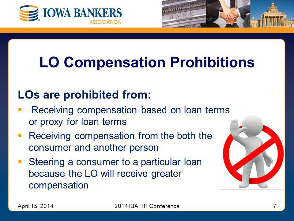 LO Compensation Prohibitions