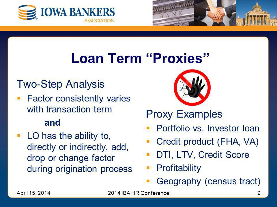 Loan Term Proxies Two-Step Analysis Proxy Examples