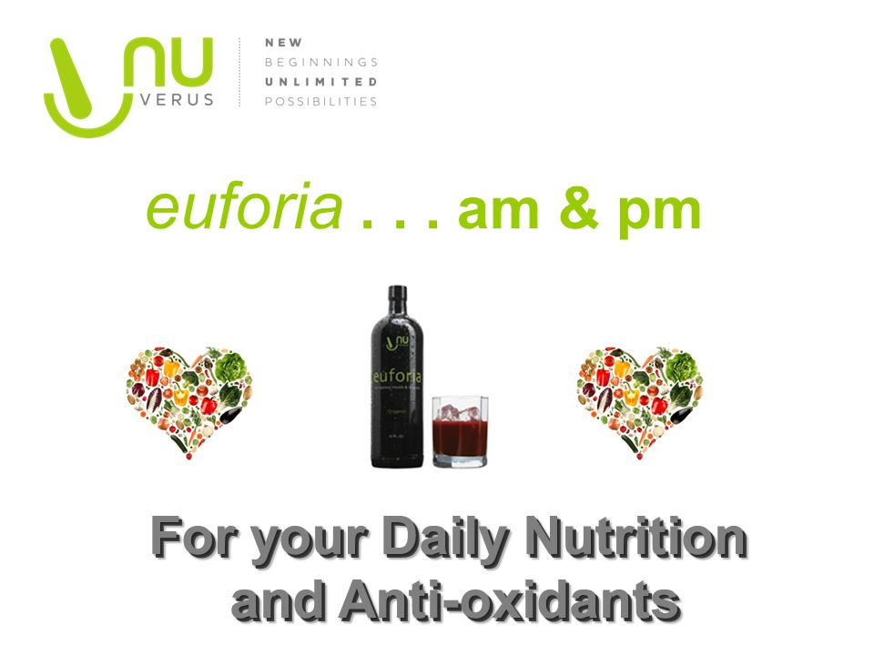 For your Daily Nutrition and Anti-oxidants