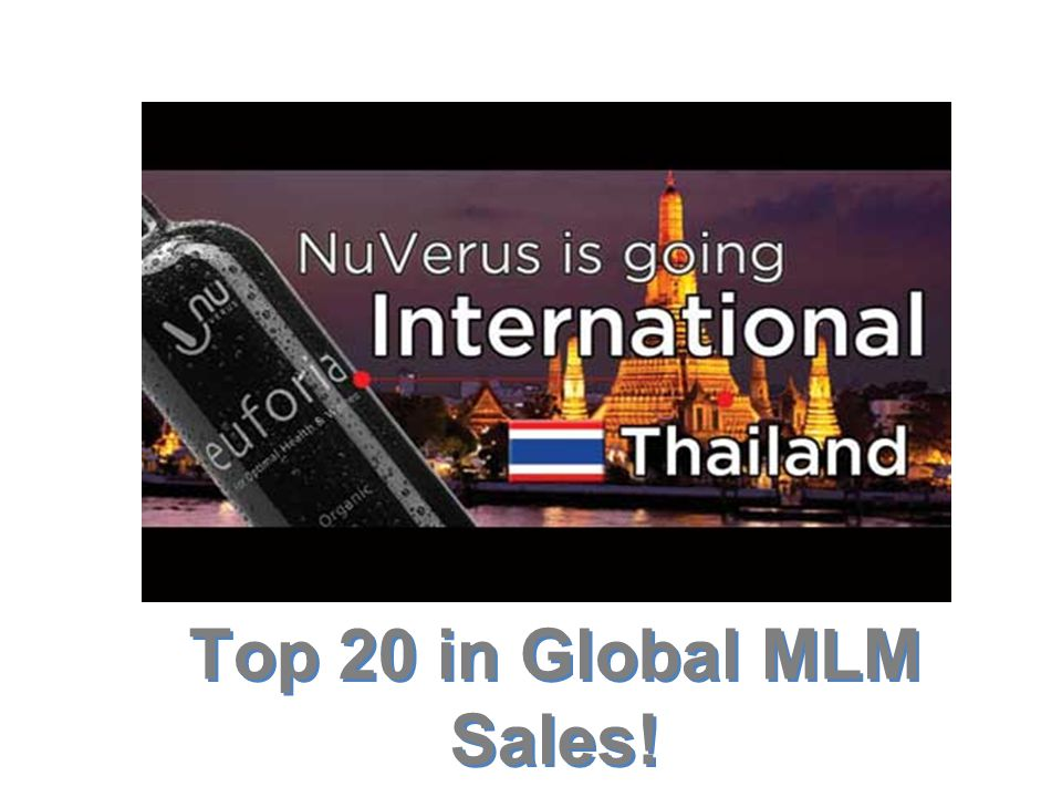 Top 20 in Global MLM Sales!