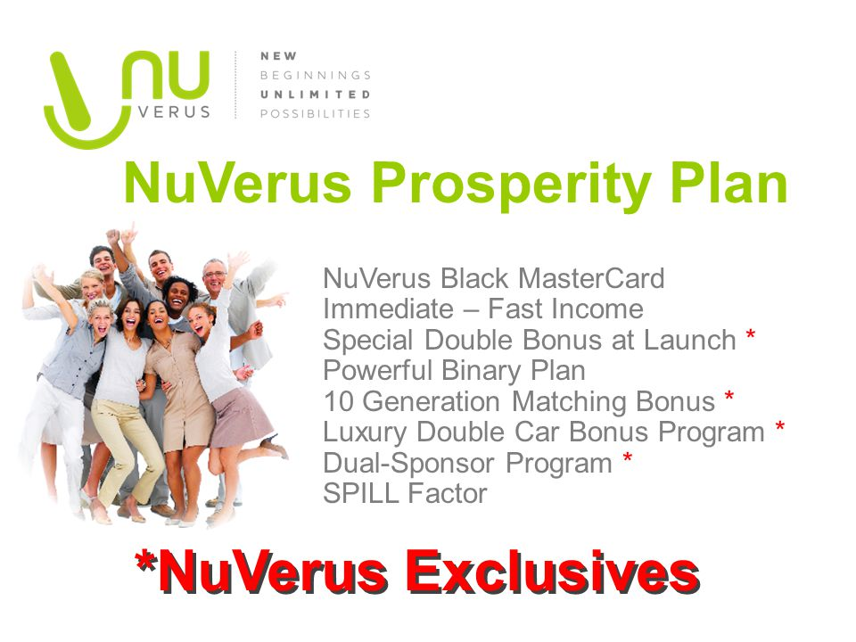 NuVerus Prosperity Plan