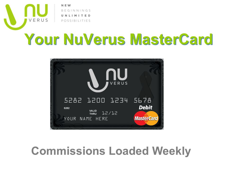 Your NuVerus MasterCard