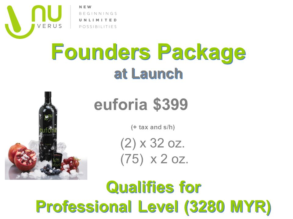 Founders Package at Launch