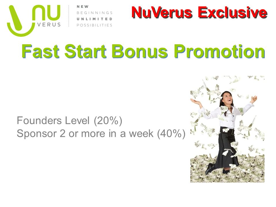Fast Start Bonus Promotion