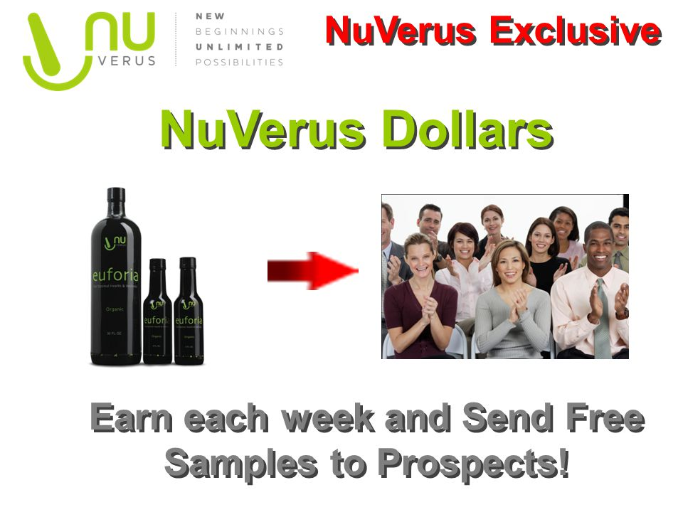 Earn each week and Send Free Samples to Prospects!