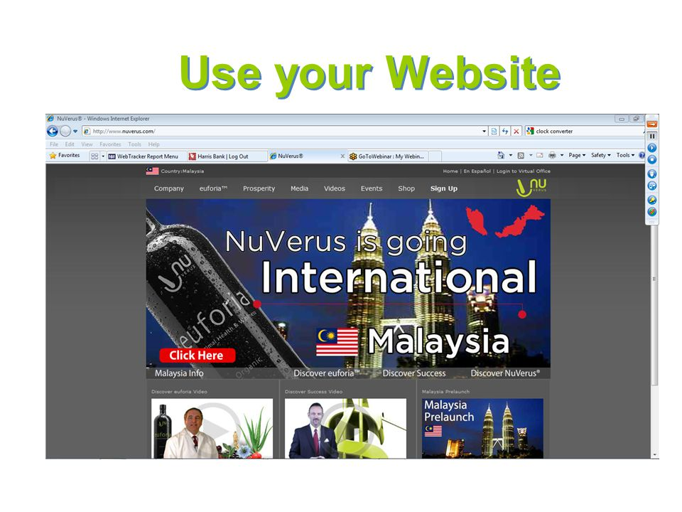 Use your Website International Marketing Director Pool; 2.5%