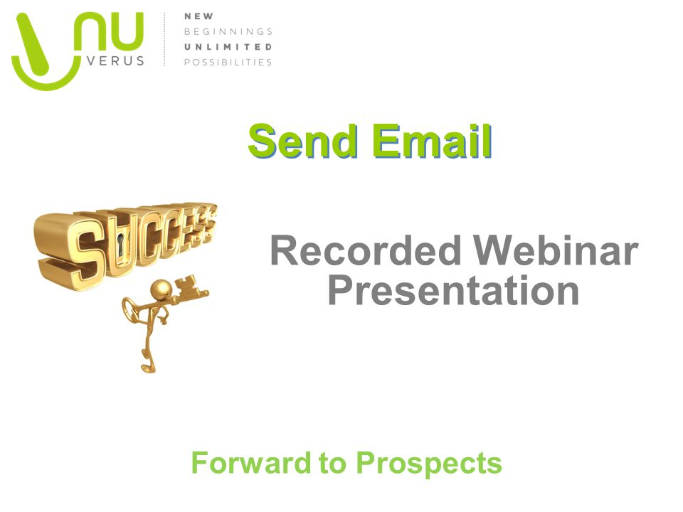 Recorded Webinar Presentation