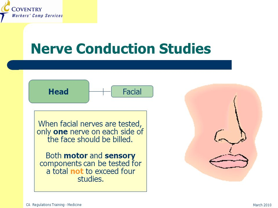 Final, facial nerve conduction study really