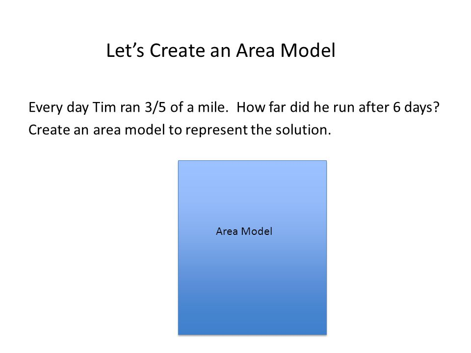 Let's Create an Area Model