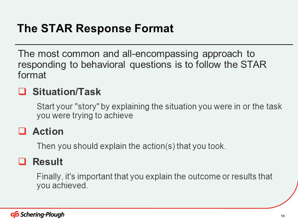The STAR Response Format