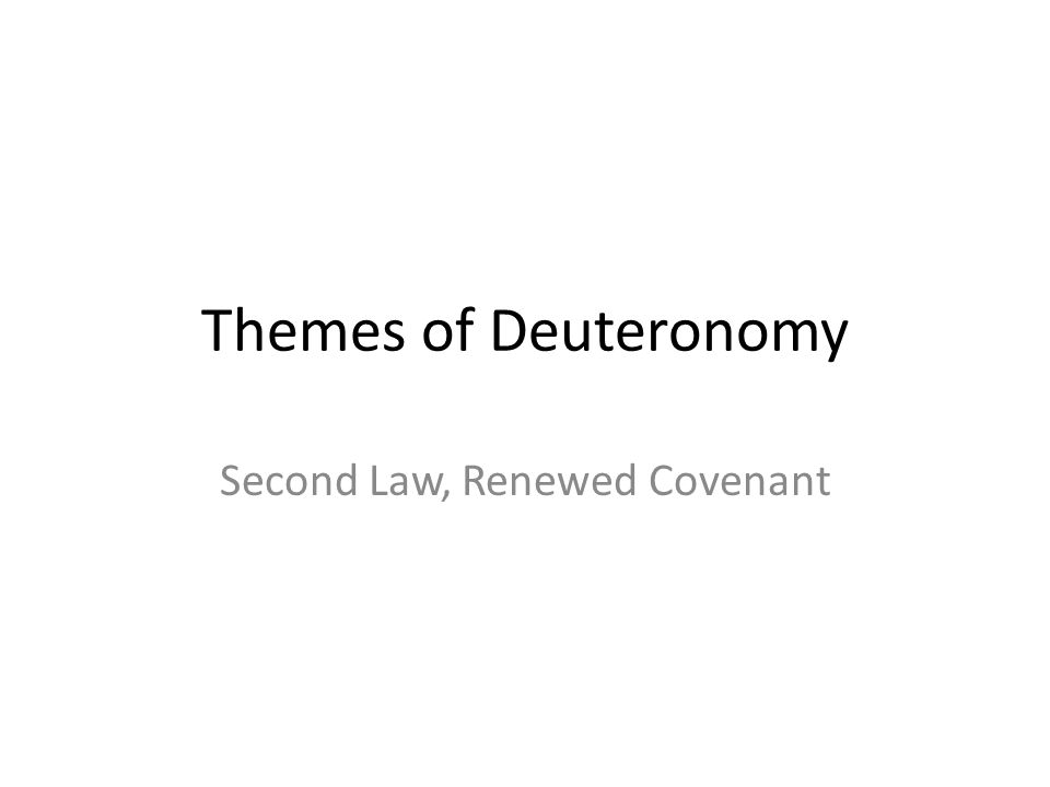 Second Law, Renewed Covenant
