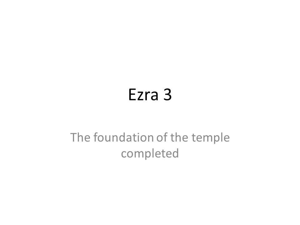 The foundation of the temple completed