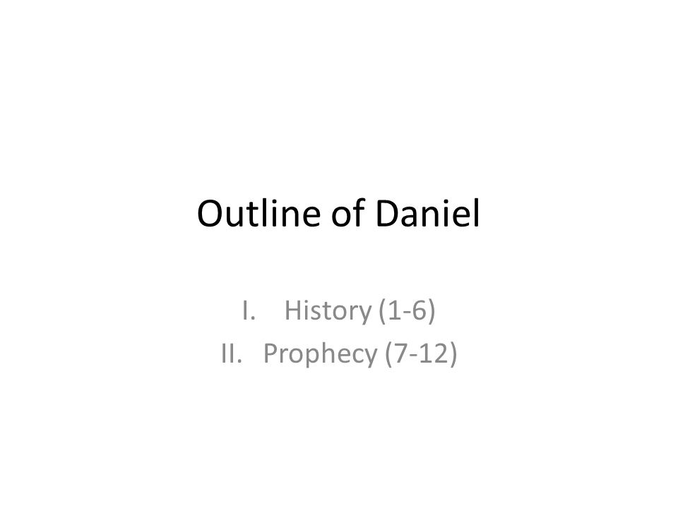 History (1-6) Prophecy (7-12)