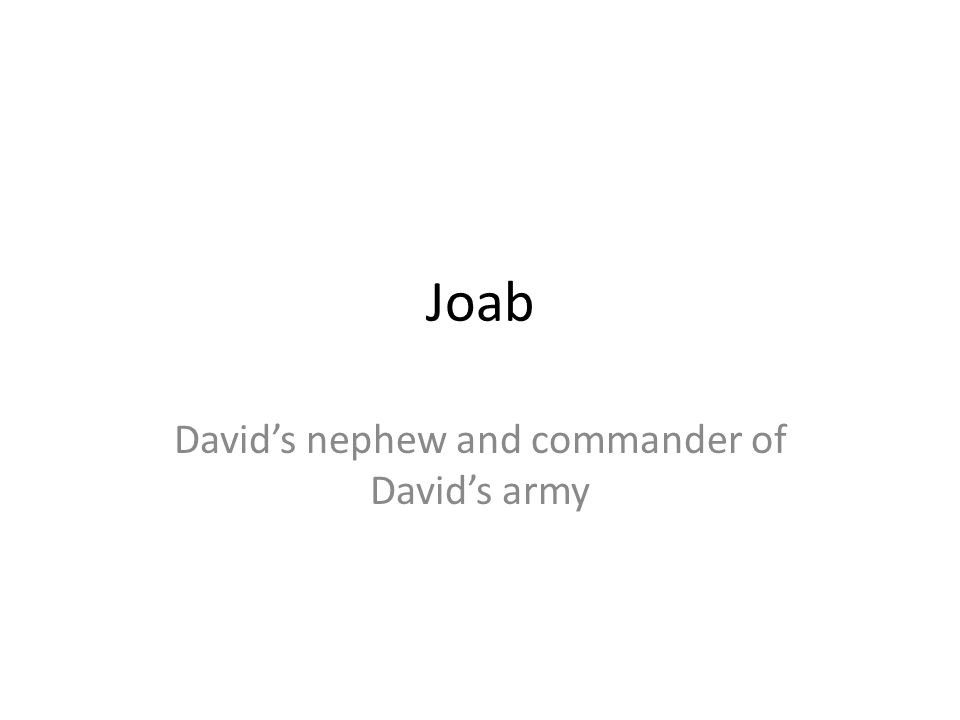 David's nephew and commander of David's army
