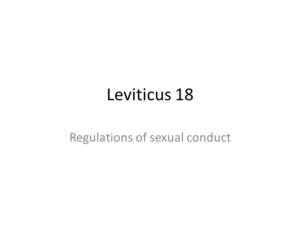 Regulations of sexual conduct