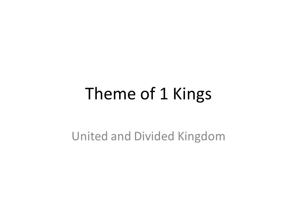 United and Divided Kingdom