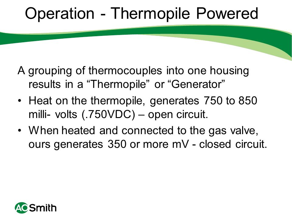 Operation - Thermopile Powered