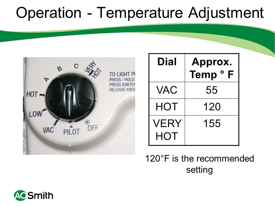 Operation - Temperature Adjustment