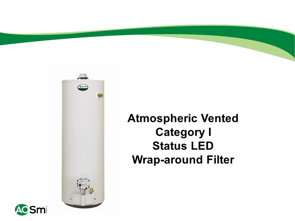 Atmospheric Vented Category I Status LED Wrap-around Filter