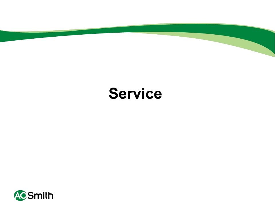 Service FOLLOW GOOD SERVICE SOLVING PROCEDURES: