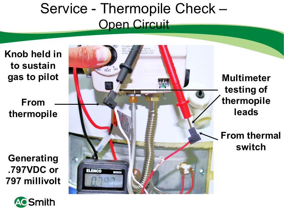 Service - Thermopile Check – Open Circuit