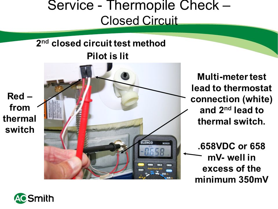 Service - Thermopile Check – Closed Circuit