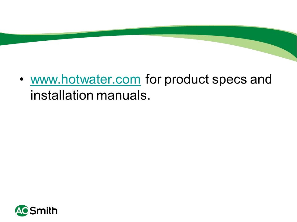 for product specs and installation manuals.
