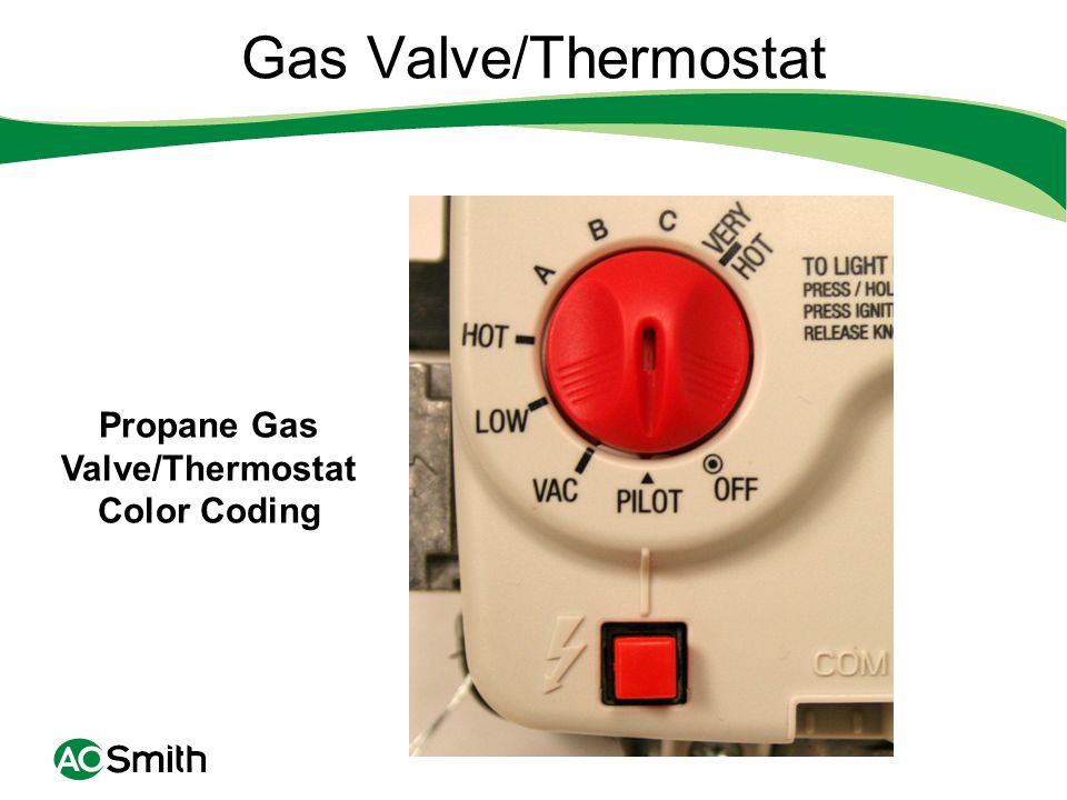 Propane Gas Valve/Thermostat Color Coding