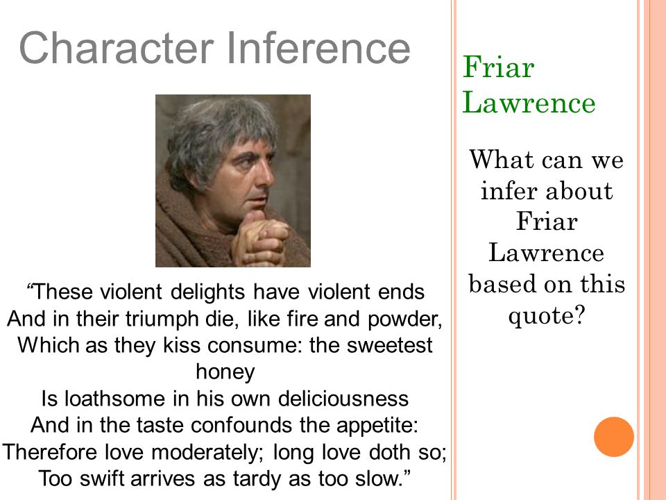 What can we infer about Friar Lawrence based on this quote