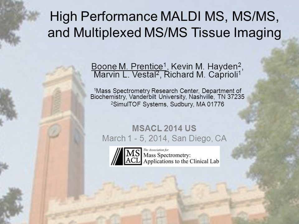 High Performance MALDI MS, MS/MS, and Multiplexed MS/MS Tissue Imaging