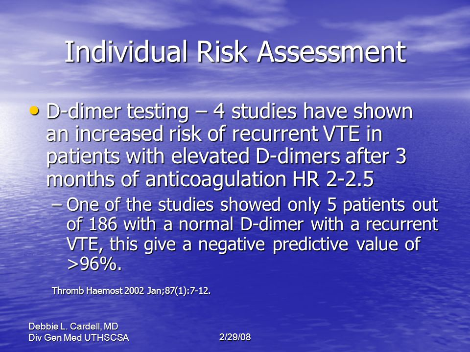 Individual Risk Assessment