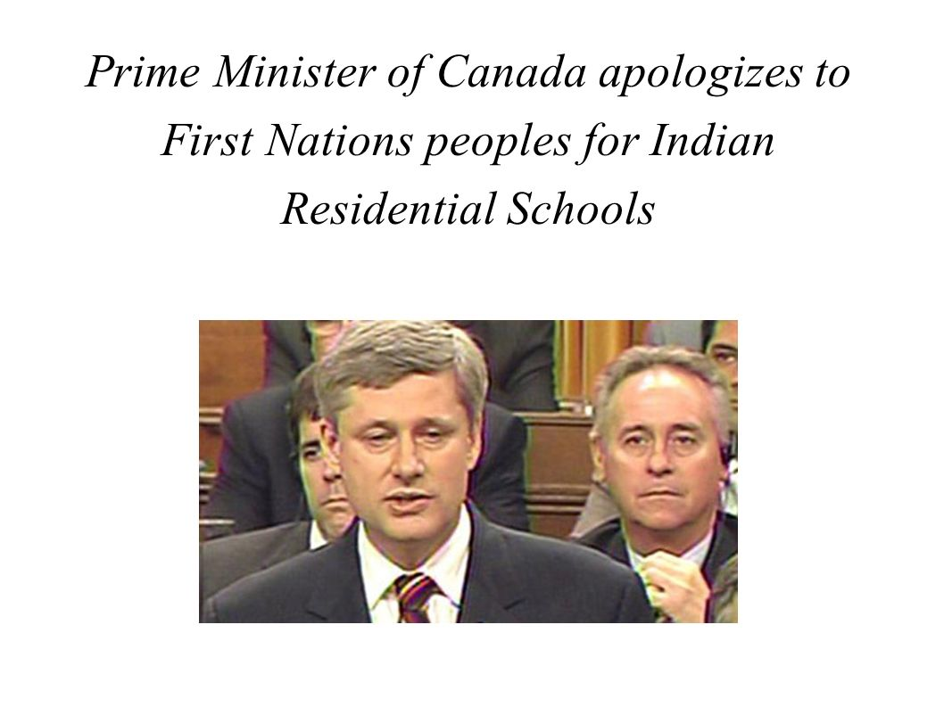 Prime Minister of Canada apologizes to