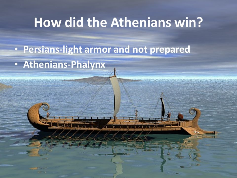 How did the Athenians win