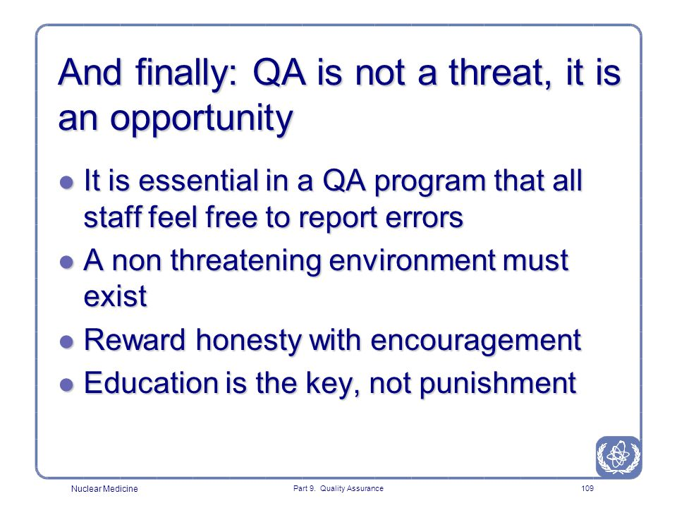And finally: QA is not a threat, it is an opportunity