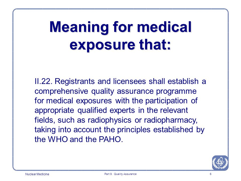 Meaning for medical exposure that: