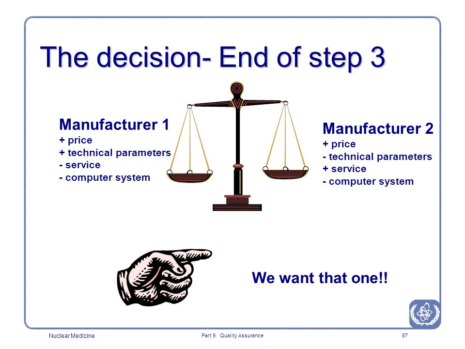 The decision- End of step 3