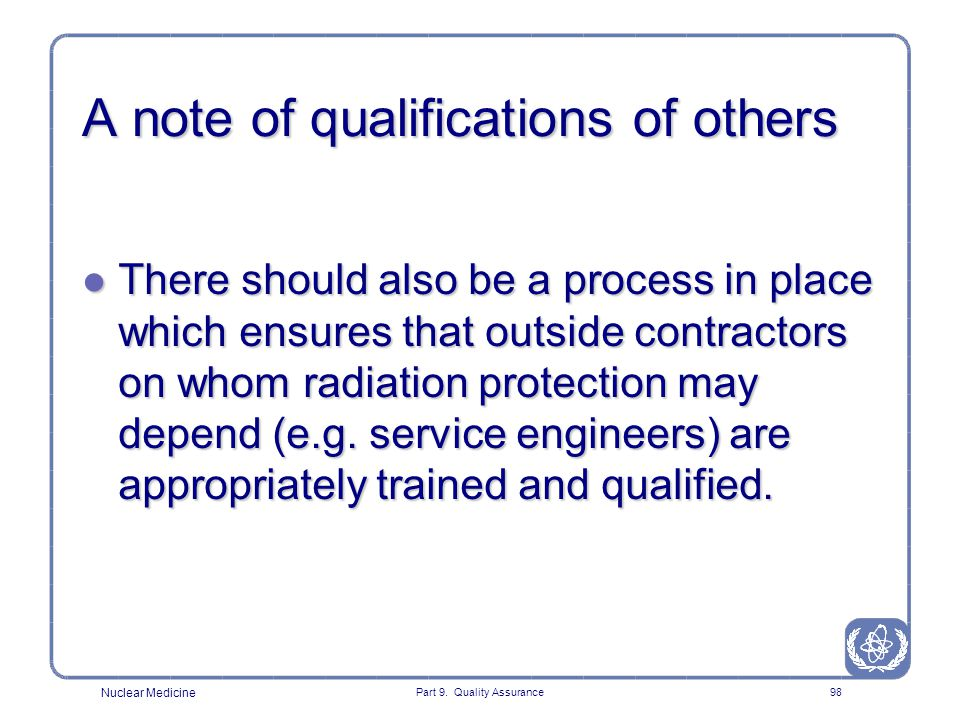 A note of qualifications of others