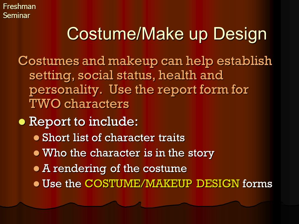Costume/Make up Design