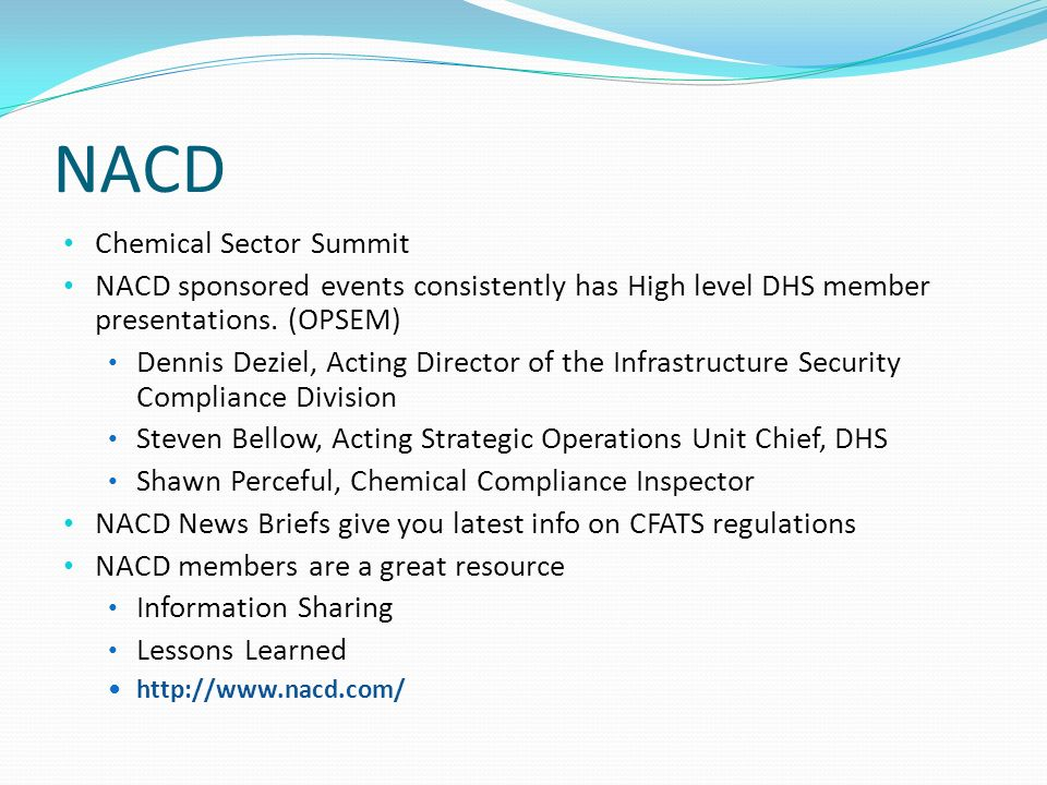 NACD Chemical Sector Summit