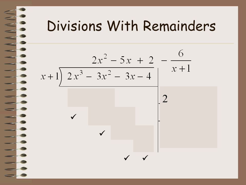 Divisions With Remainders